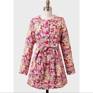 Anthropologie Tulle Floral Jacket
